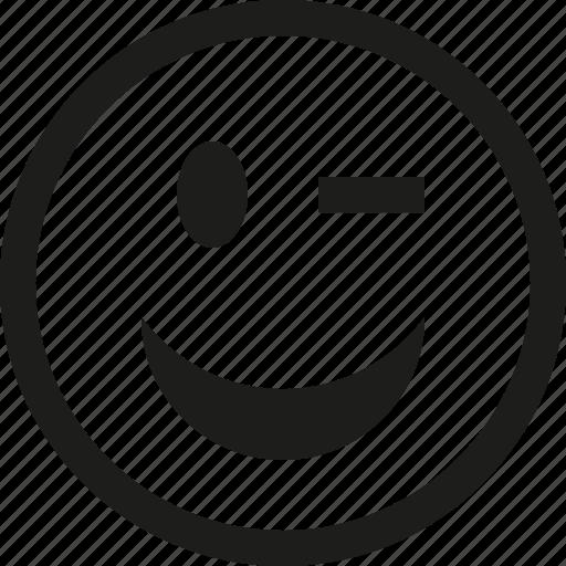 blink, smiley icon