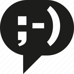 bubble, smiley, talk icon