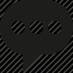 bubble, talk, typing icon