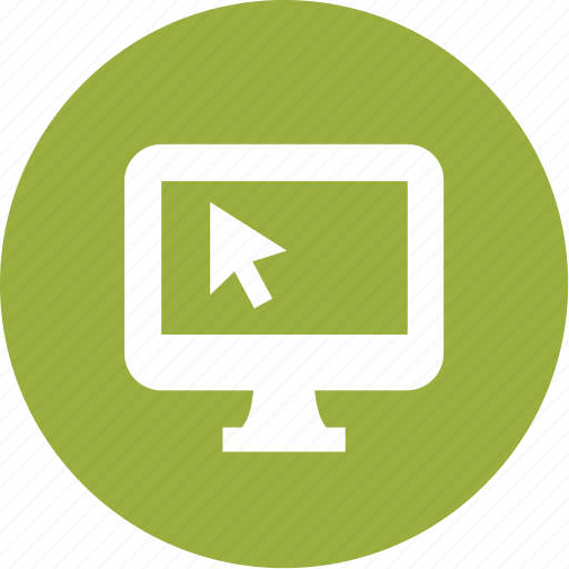 arrow, computer, desktop, display, imac, monitor, pc icon