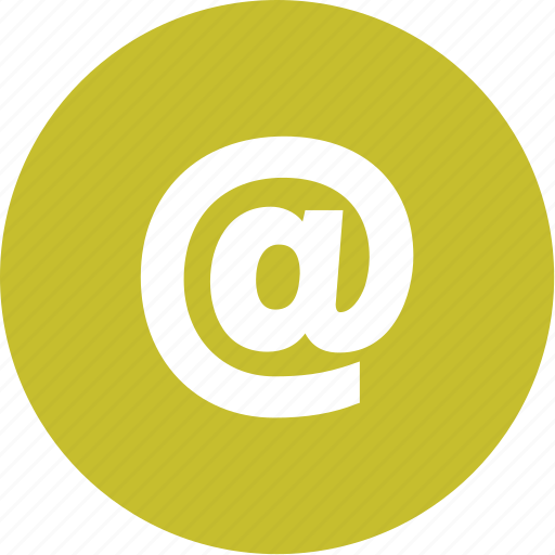 @, address, at, contact, email icon