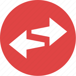 arrows, direction, network icon