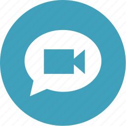 bubble, camera, chat, facetime, message, video icon