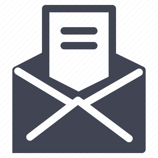 communication, document, email, envelope, mail icon