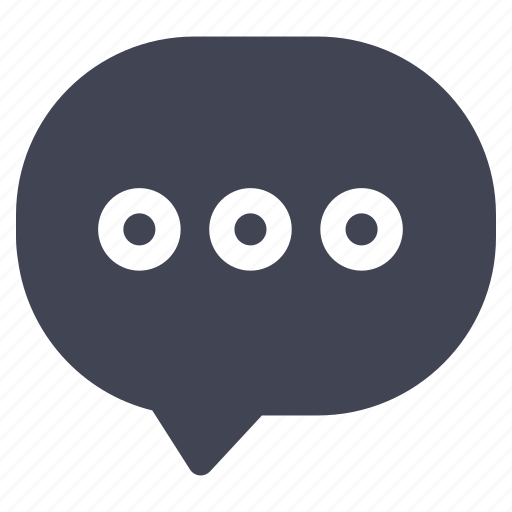 chat, communication, message, round, texting icon