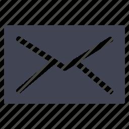 communication, envelope, letter, mail, message, unread icon