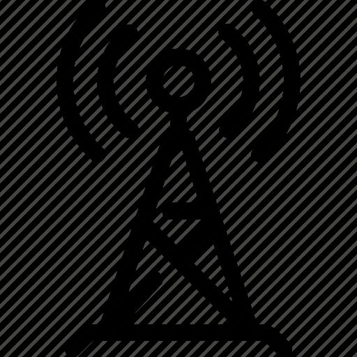 antenna, broadcast, communication, radio, signal, transmission icon