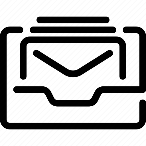 communication, envelope, inbox, income, mail, mailbox icon