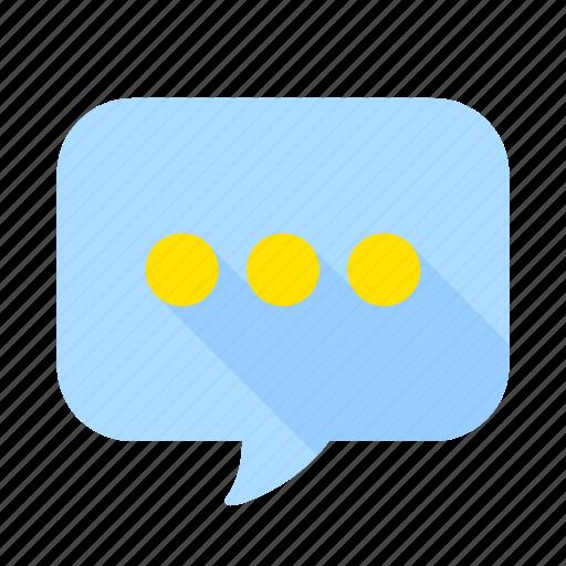 bubble, chat, communication, ellipsis, interaction, message, talk icon