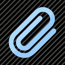 attach, attachment, clip, communication, file, paper, paperclip icon