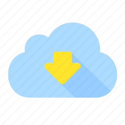 cloud, communication, data, download, file, guardar, save, storage icon
