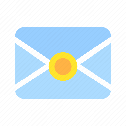 communication, email, envelope, letter, mail, message, seal icon