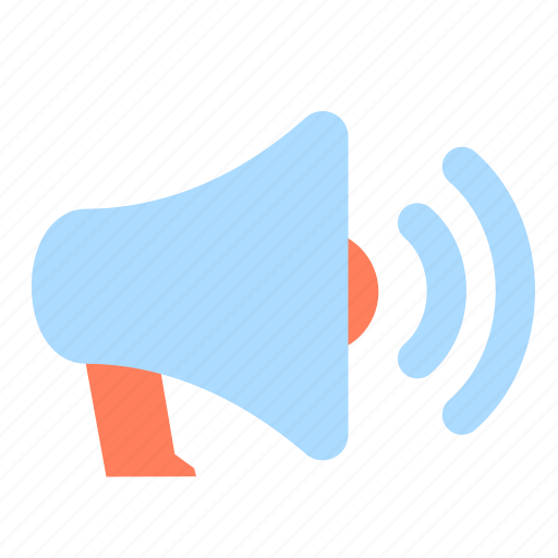 advertising, announcement, bullhorn, communication, loud, megaphone, speaker icon