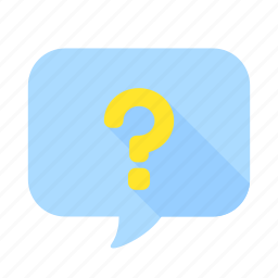 bubble, chat, communication, message, question, speech, talk icon