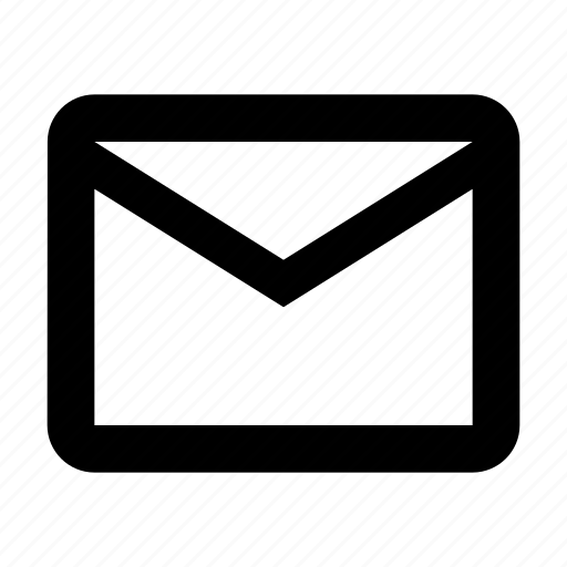 contact, document, inbox, mail, outline, post, text icon