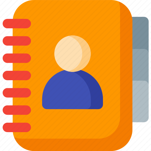 address, communication, contact, contacts, email, phone, phonebook icon