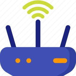 communication, connection, internet, modem, signal, wifi, wireless icon