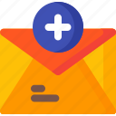 add, letter, communication, email, envelope, mail, message
