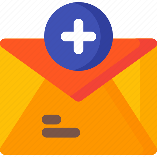 add, communication, email, envelope, letter, mail, message icon