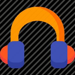 audio, headphone, media, multimedia, music, sound icon