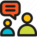chat, comment, communication, conversation, dialogue, interaction, speak icon