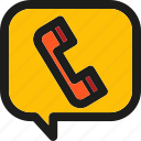 call, chat, communication, message, phone, talk, telephone icon