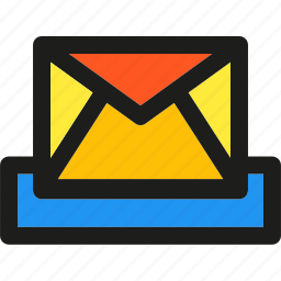communication, email, envelope, inbox, interaction, mail, message icon