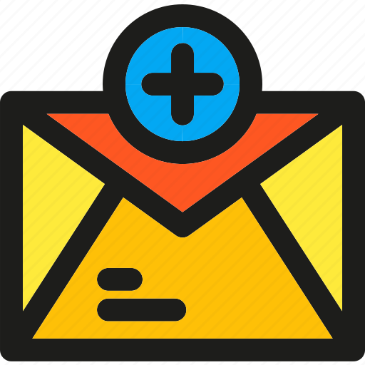 add, communication, email, envelope, interaction, letter, network icon