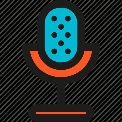audio, mic, microphone, multimedia, sound, speak, voice icon