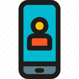 chat, communication, interaction, message, phone, smartphone, video icon