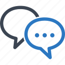 chat, discussion, speech bubbles, talk icon