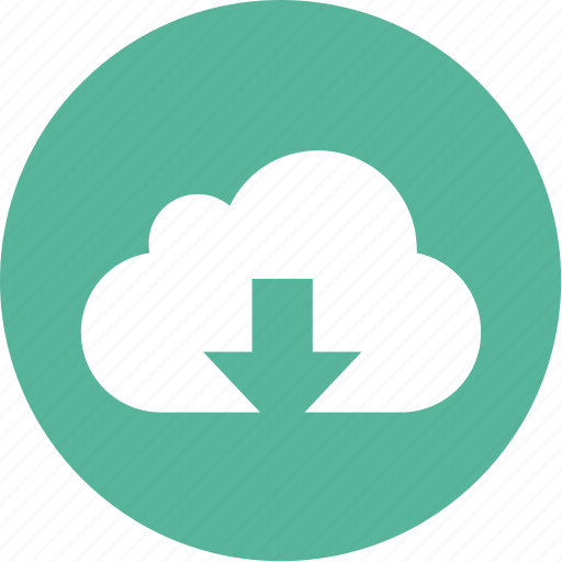 arrow, cloud, data, download, internet, storage icon