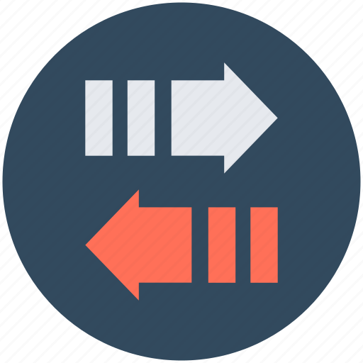 Arrows, communication, data travel, left arrow, right arrow icon - Download on Iconfinder