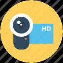 hd camcorder, hd camera, hd handycam, video camera, video recording