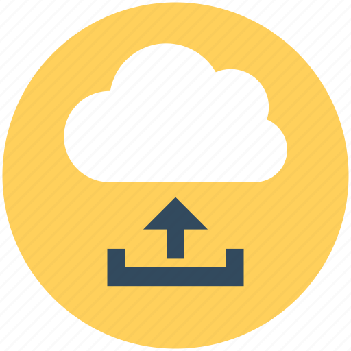 cloud transfer, cloud upload, data uploading, icloud, storage cloud icon