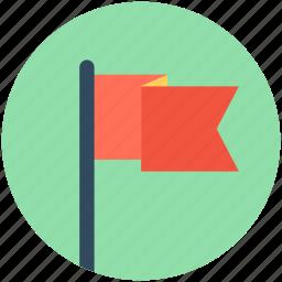 destination flag, ensign, flag, flag pole, location flag icon