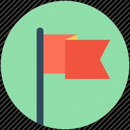 Destination flag, ensign, flag, flag pole, location flag icon - Download on Iconfinder