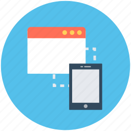 data sharing, data transfer, mobile, mobile internet, webpage icon