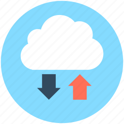 cloud computing, cloud downloading, cloud network, cloud sharing, cloud uploading icon