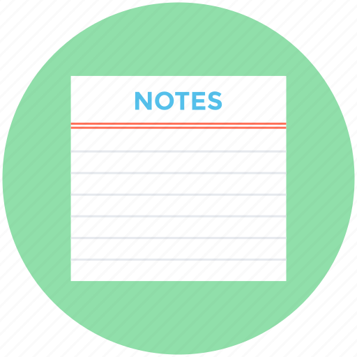 document, list, memo, notes, paper icon
