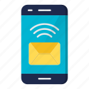 communication, email, message, smartphone icon
