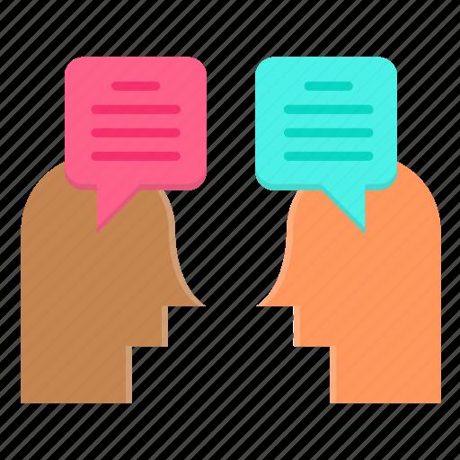 communication, conversation, dialogue, discussion, talk icon