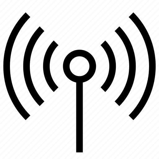 Network, antena, signal, internet, wireless, cellular, communication icon
