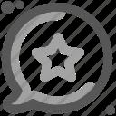 communication, meeting, message, social, speak to, star globe, talking icon