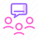 bubble, communication icon, group, network icon
