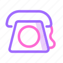 communication, device, phone, technology, telephone icon