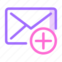 communication, email, letter, mail, message icon icon