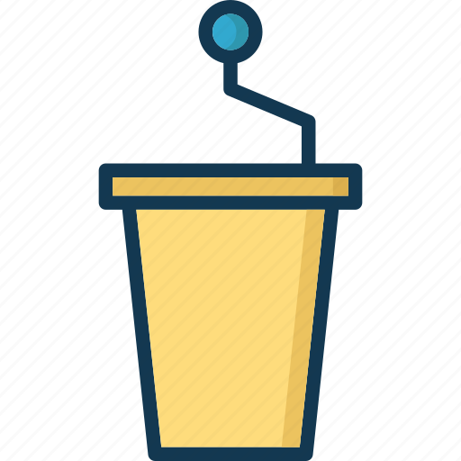 mic, platform, podium, speech desk icon