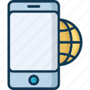 browsing, connected, internet, map icon