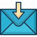 inbox, incoming, mail, received icon